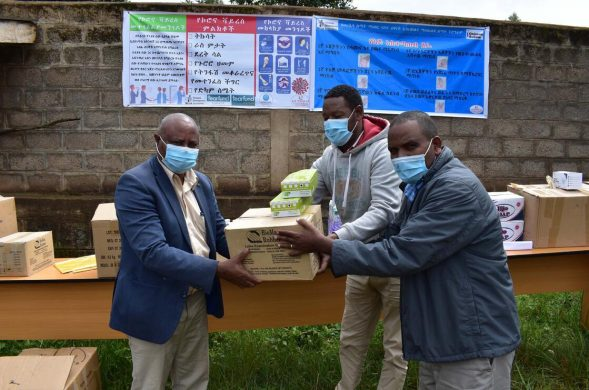 Delivering hygiene kits to Zonal Health Department in Ethiopia